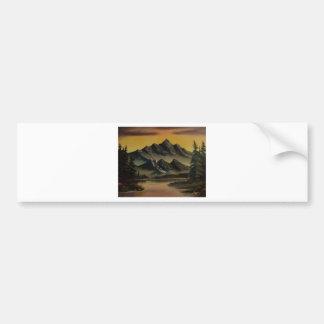 Darkened Horizon Car Bumper Sticker
