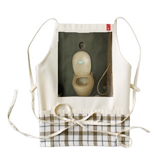 Darkened view of a commode zazzle HEART apron