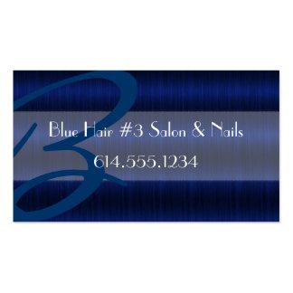 Darker Blue Hair #3 Salon Stylist Business Cards