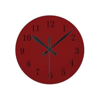 Darker Chocolatey Falu Red Kitchen Wall Clock
