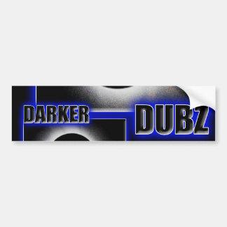 DARKER DUBZ blue Dubstep Dub Bumper Sticker
