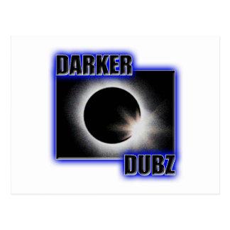 DARKER DUBZ blue Dubstep Dub Postcard