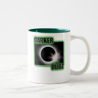 DARKER DUBZ green Dubstep Dub Two-Tone Coffee Mug
