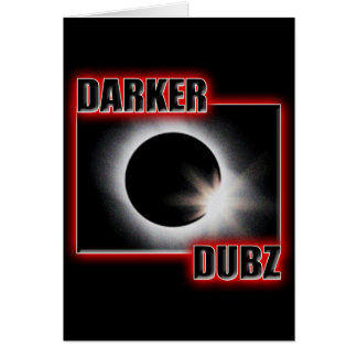 DARKER DUBZ red Dub Dubstep Reggae Greeting Cards