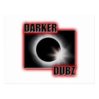 DARKER DUBZ red Dubstep Dub Postcard