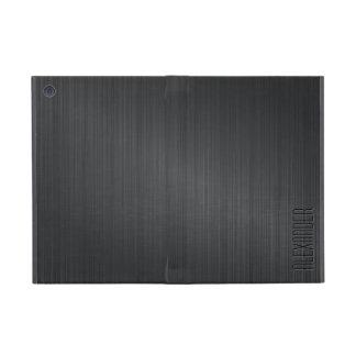Darker  Gray Metallic Look Brushed Aluminum iPad Mini Covers