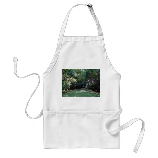 Darker green woods with grass path middle aprons