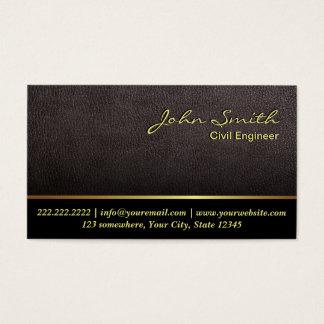 Darker Leather Civil Engineer Business Card