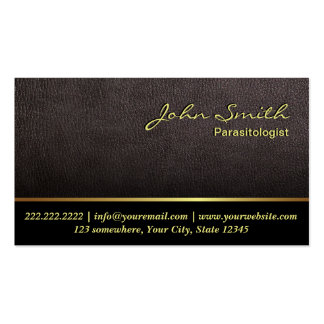 Darker Leather Parasitology Business Card
