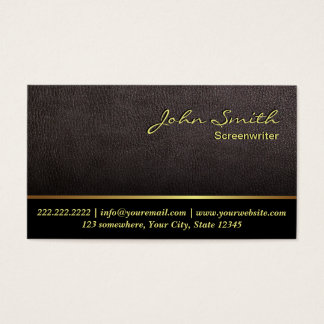 Darker Leather Screenwriter Business Card