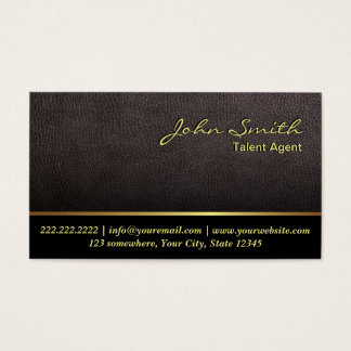 Darker Leather Talent Agent Business Card