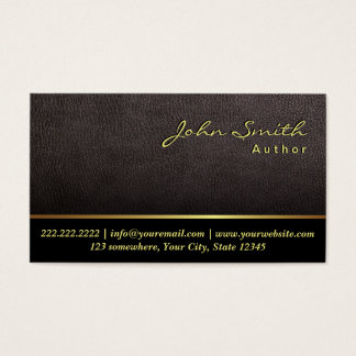Darker Leather Texture Author Business Card