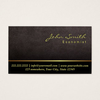 Darker Leather Texture Economist Business Card