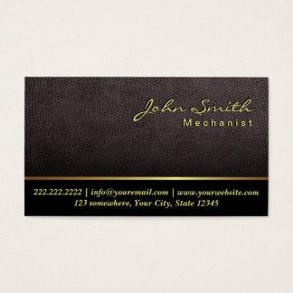 Darker Leather Texture Mechanic Business Card