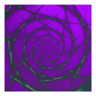 Darker Purple Wire Spiral Photo Print