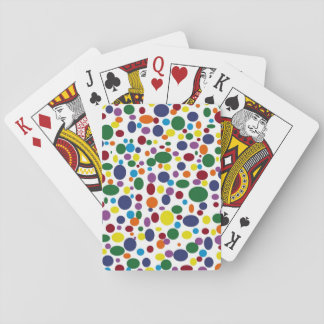 Darker Rainbow Bubbles Playing Cards