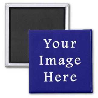 Darkest Blue Hanukkah Chanukah Hanukah Template 2 Inch Square Magnet