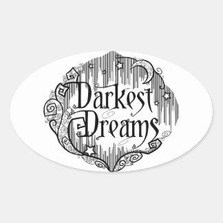 Darkest Dreams Oval Sticker