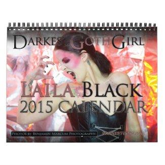 DarkestGoth Girl Laila Black 2015 Calendar