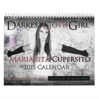 DarkestGoth Girl Mariarita Cupersito 2015 Calendar