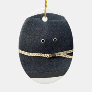 DarkFeltHat050915.png Ceramic Ornament