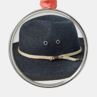 DarkFeltHat050915.png Metal Ornament