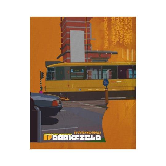 Darkfield Tram wall furniture Canvas Print