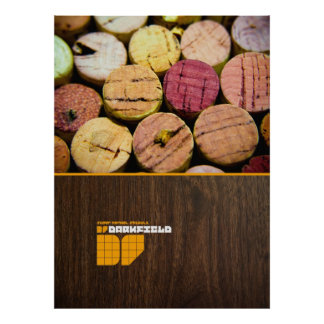 Darkfield Wine and Wood poster
