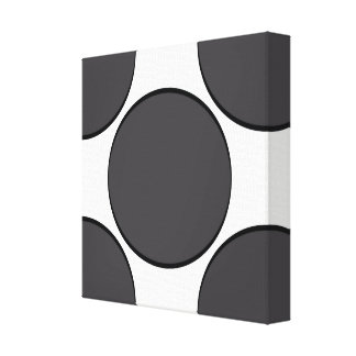 DarkGrey Dot Canvas Print