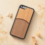 DarkGrey Dot Carved Cherry iPhone 6 Bumper Case