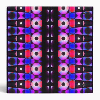 Darkly Colorful Pattern 3 Ring Binder