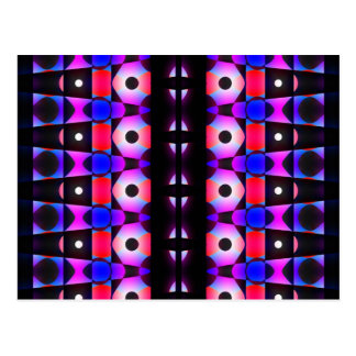 Darkly Colorful Pattern Postcard