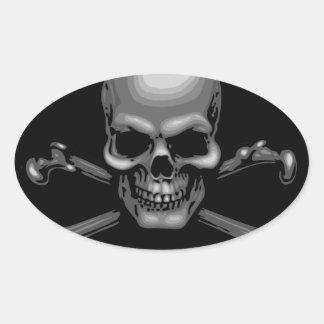Darkly Marky Oval Sticker