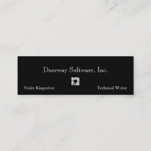 Technical writer business cards templates zazzle darkly technical writer mini business card colourmoves