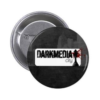 DarkMediaCity Logo 2 Inch Round Button
