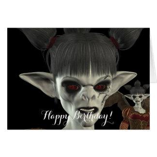 Darkness Comes Beautiful Miss Piggy Birthday Card