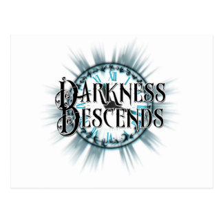 darkness descends design three postcard