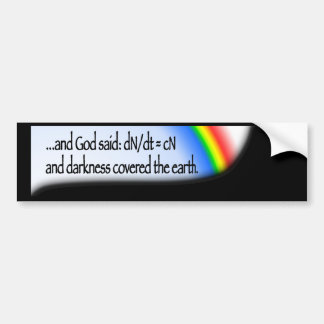 Darkness (rainbow) bumper sticker