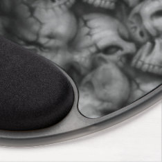 darkness skull head textures gel mouse pad at Zazzle