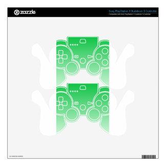DarkPastel Green to PastelGreen HorizontalGradient PS3 Controller Decal