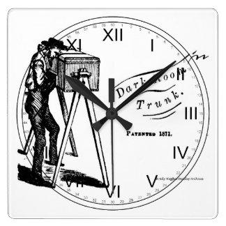 Darkroom Trunk w numbers Wall Clock