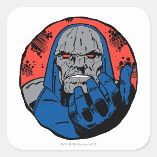 Darkseid  Head Shot 2 Square Sticker