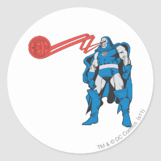 Darkseid Uses Psionic Powers Classic Round Sticker