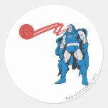 Darkseid utiliza los poderes de Psionic Pegatina Redonda