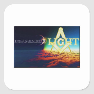 darktolightmason square sticker