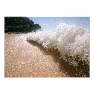 Darkwood Beach Crashing Wave print