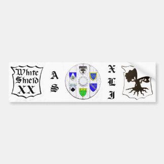 Darkwood White Shield XX, AS XLI Bumper Sticker