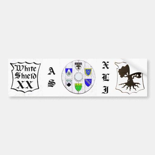Darkwood White Shield XX, AS XLI Bumper Stickers