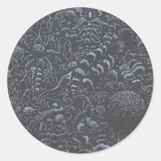 Darkworld, by Brian Benson Classic Round Sticker