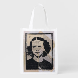 Darla #1 Printmaking Collage Grocery Bag